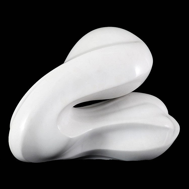 BART SOUBRY Untitled. White Carrara marble. Signed and dated 'Soubry 1