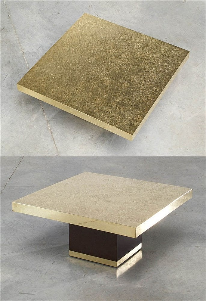 GEORGES MATHIAS XX Coffee table or side table, circa 1970. Etched bras
