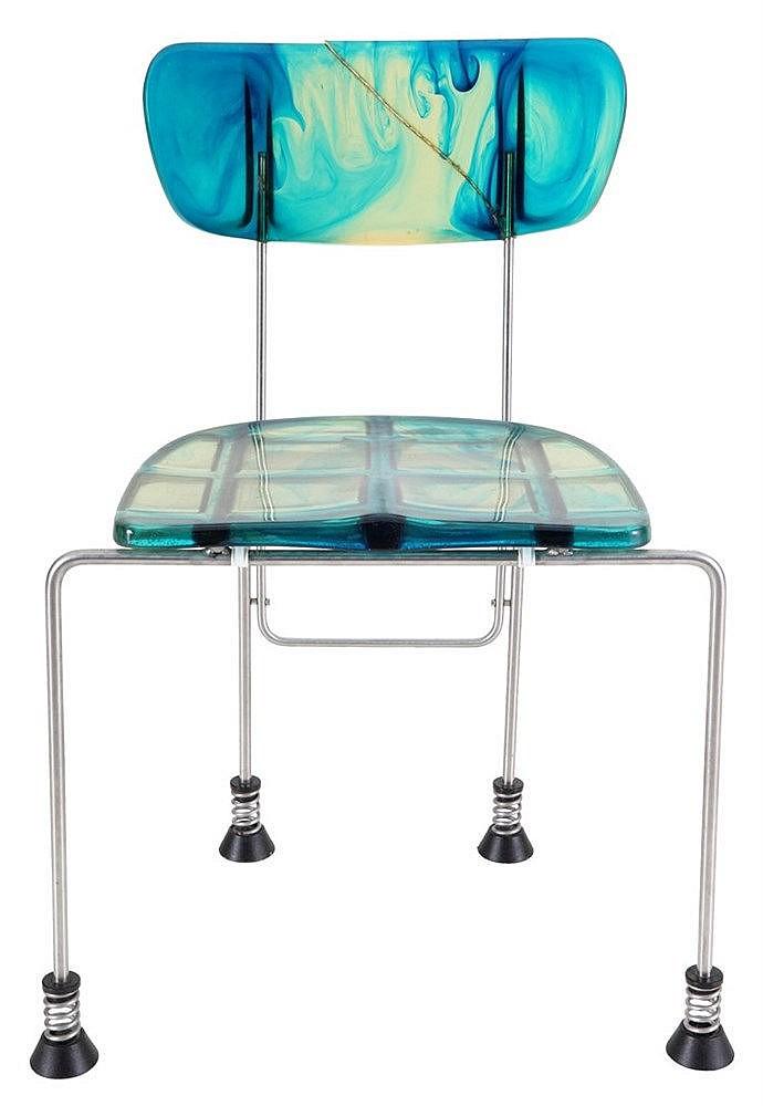 GAETANO PESCE(1939) / BERNINI Chair, model 'Broadway'. Design from 199