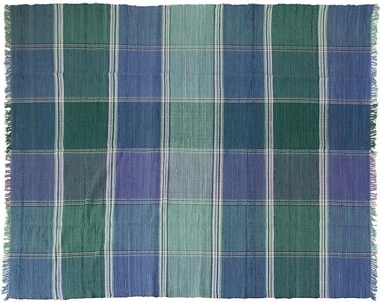 SHYAM AHUJA XX Carpet, model 'Kings Cross, Ocean Blue'. Circa 1970. Ha