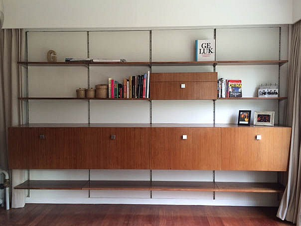 ALFRED HENDRICKX(1931)/ BELFORM Library-wall unit. Circa 1960. Several