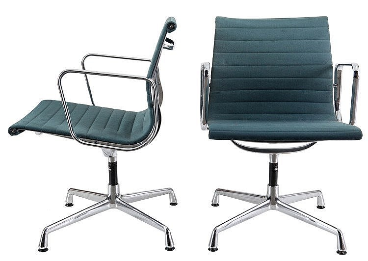 CHARLES EAMES (1907-1978)/ VITRA Pair of office chairs from the Alumin