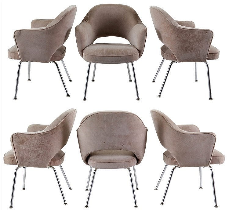 EERO SAARINEN (1910-1961) / KNOLL INTERNATIONAL Set of six dining chai