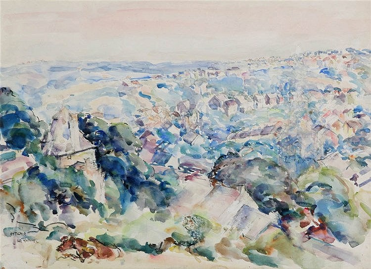 JOSEPH MORRIS RAPHAEL (1869-1950) Watercolour. Signed and titled. Fram