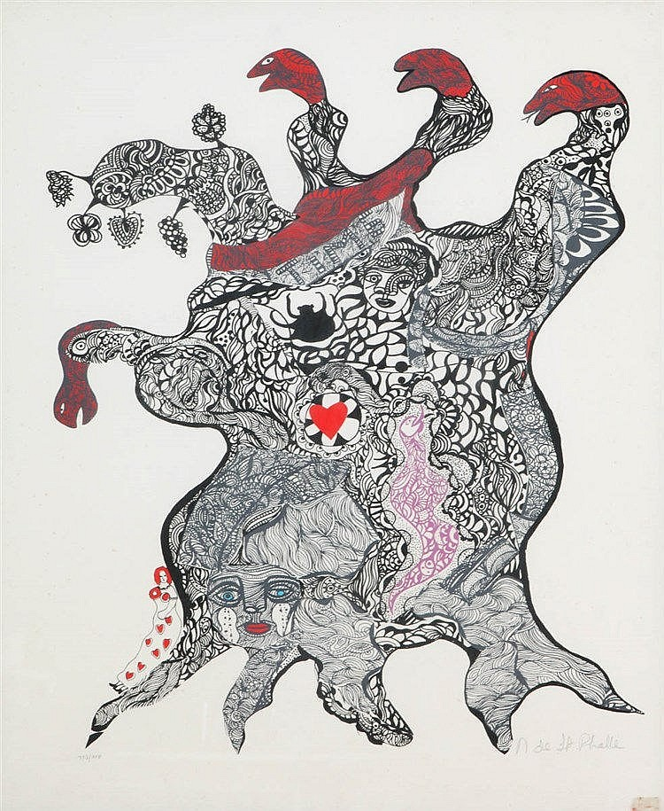 NIKI DE SAINT-PHALLE (1930-2002) Screenprint. Signed and numbered. Fra