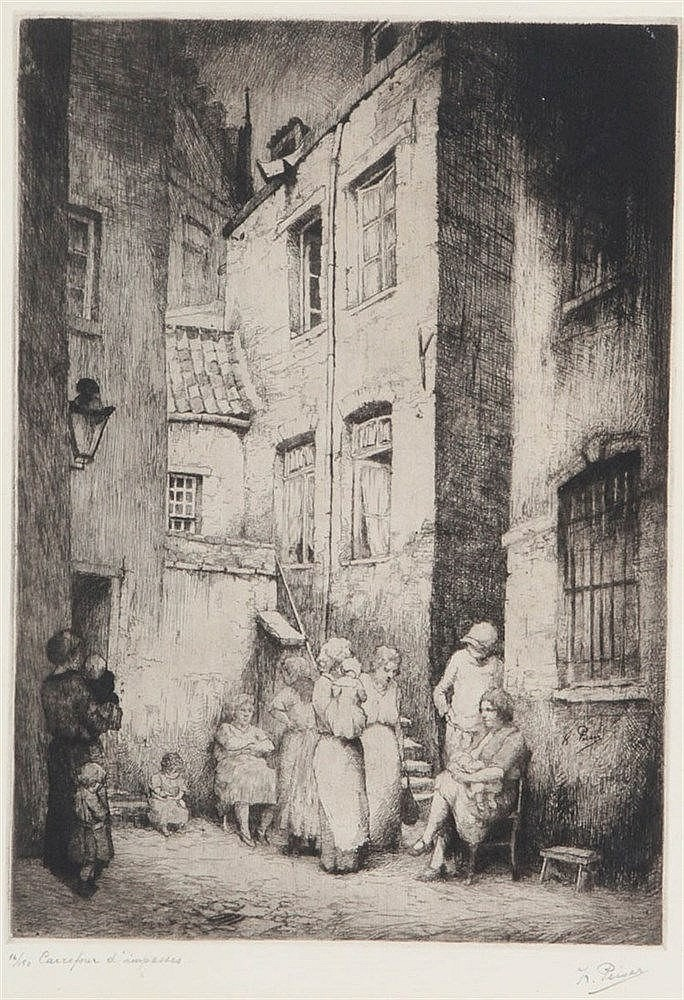 KURT PEISER (1887-1962) Etching. Signed in the plate and in pencil 'K.