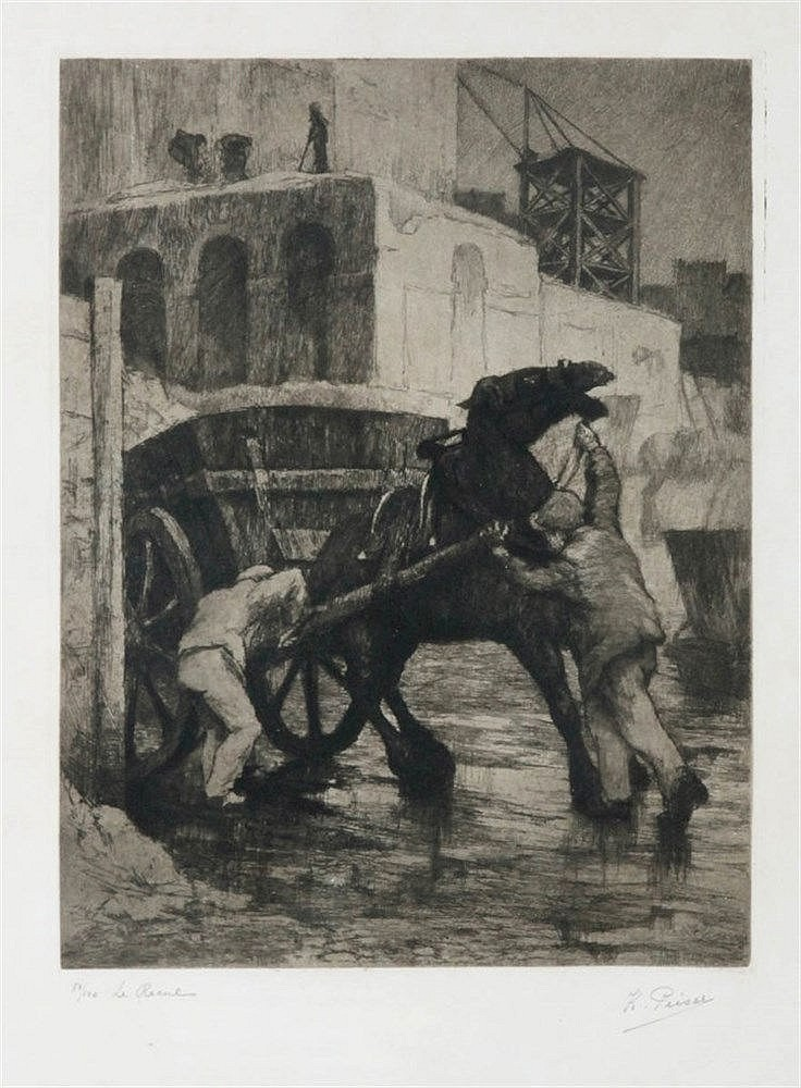 KURT PEISER (1887-1962) Etching on simili-Japan. Signed, numbered and