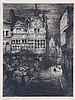 JULES DE BRUYCKER (1870-1945) 'La Maison Jean Palfyn Gand' (1912). Etc, Jules