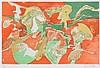LOUIS VAN LINT (1909-1987) Composition. Colour lithograph. Signed and, Louis