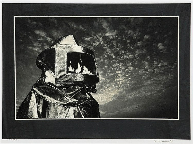 W. VERMEIREN XX Photograph. Signed, dated and titled. Mounted behind g