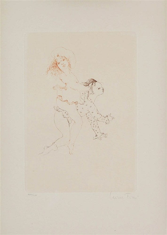 LEONOR FINI (1904-1995) Composition. Colour etching. Signed and number