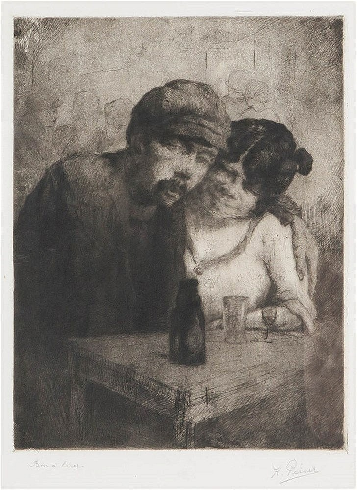 KURT PEISER (1887-1962) Etching and aquatint. Signed and with annotati