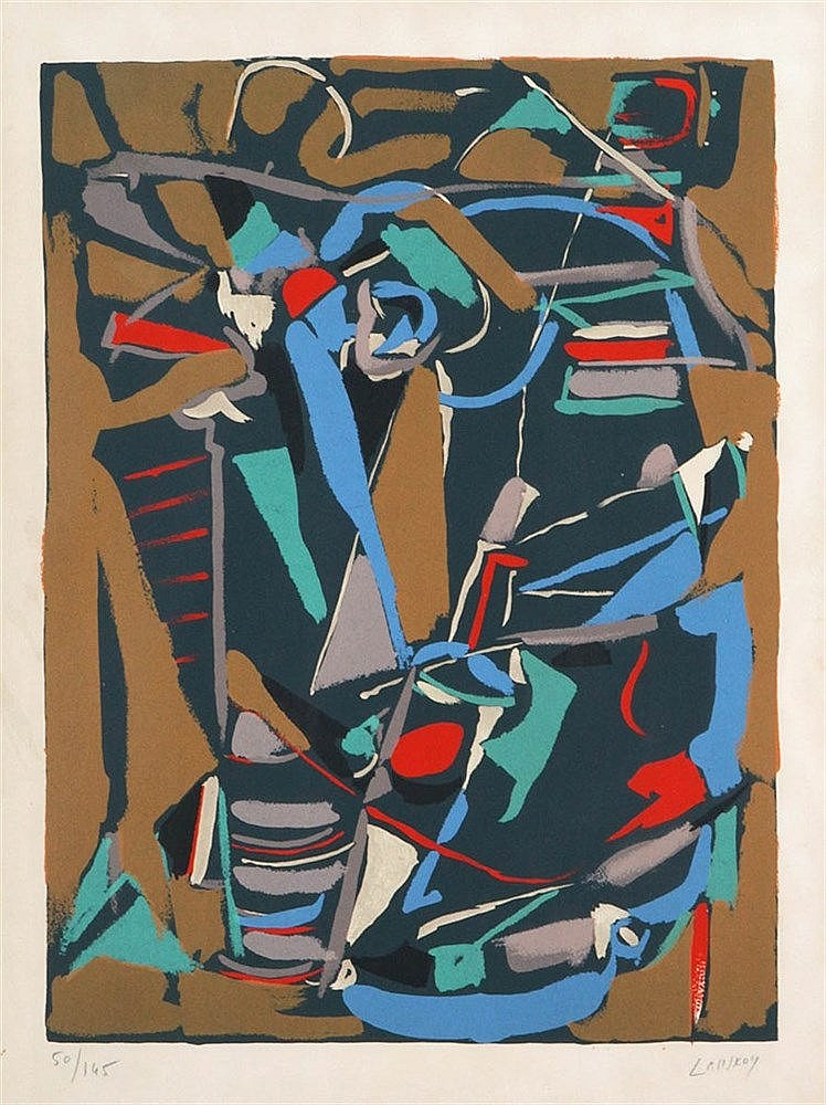 ANDRE LANSKOY (1902-1976) Composition. Colour lithograph. Signed and n