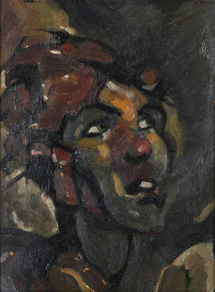 ALFRED OST (1884-1945) 'Ster'. From the series 'Atlas'. Oil on cardboa