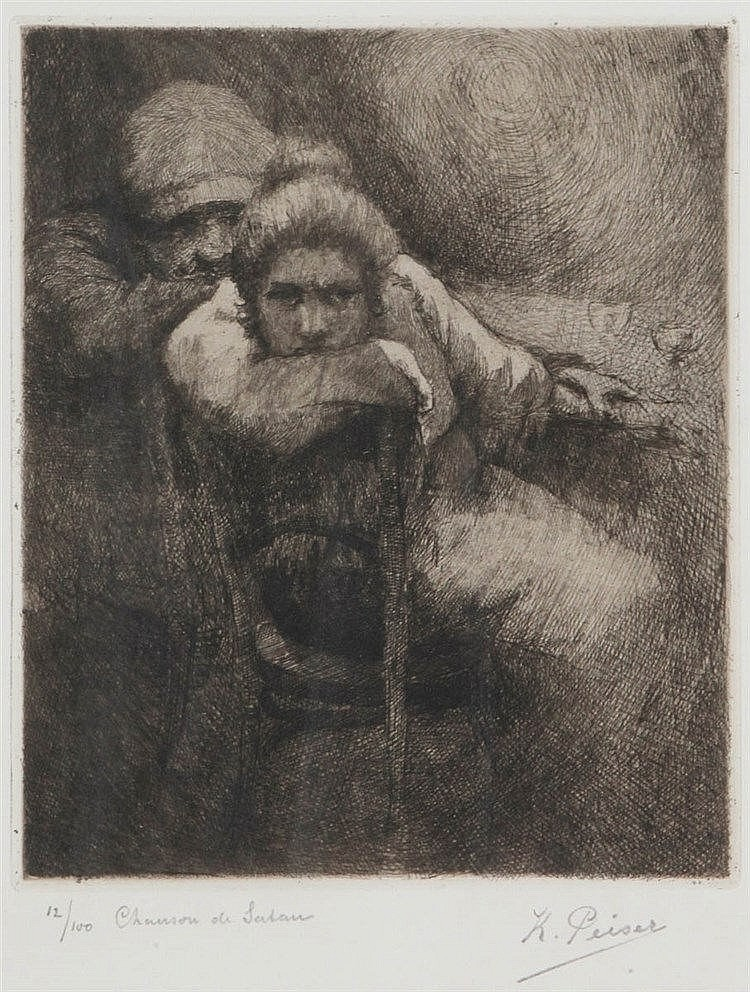 KURT PEISER (1887-1962) Etching. Signed, numbered and titled. Framed.