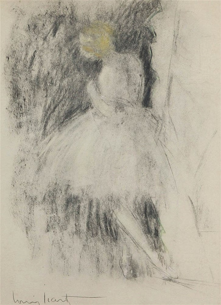 LOUIS ICART (1888-1950) Dancing girl. Lithograph, heightened. Signed.