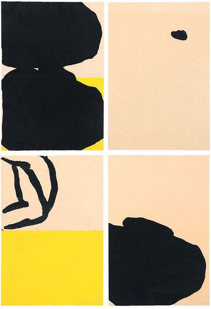 JEAN CHARLES BLAIS(1956) Composition. Colour lithograph. Set of four.