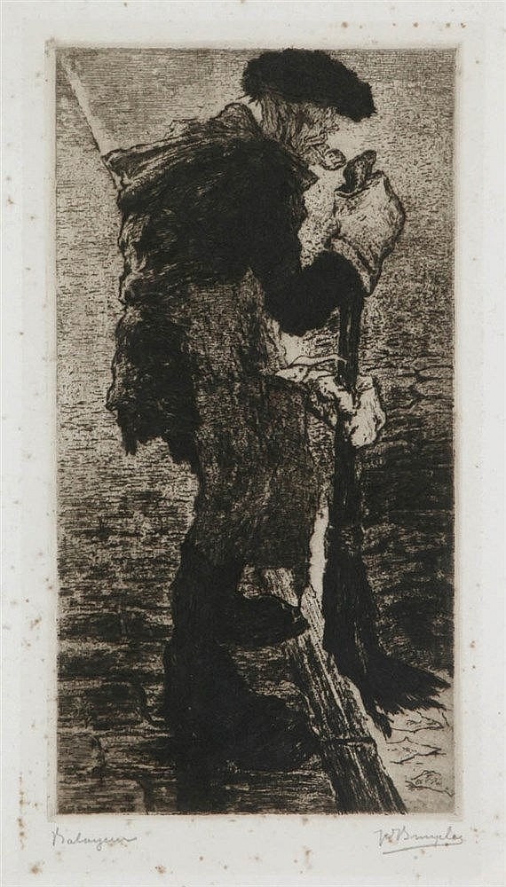 JULES DE BRUYCKER (1870-1945) Etching. Signed and dated in the plate.
