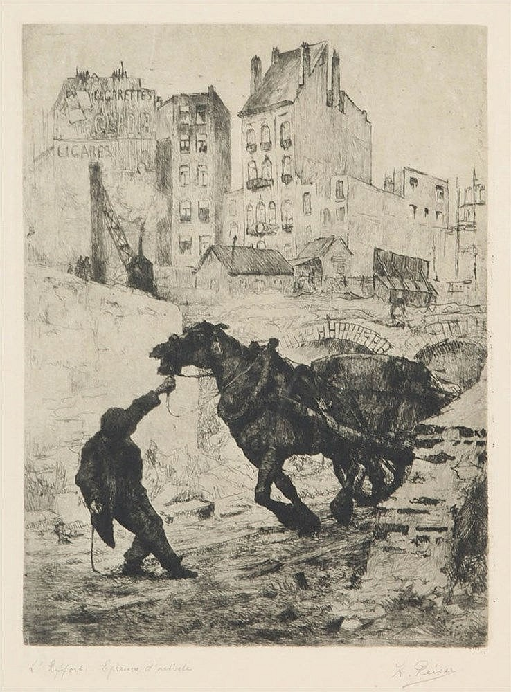 KURT PEISER (1887-1962) Etching on simili-Japan paper. Signed, titled