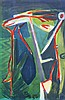 BRAM VAN VELDE (1895-1981) Composition. Colour lithograph. Initials an, Bram van Velde, €400