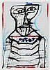 WILLEM VAN HECKE (1893-1976) Person. Lithography in colour. Signed and, Willem
