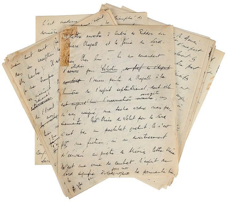 (Chagall) Waldémar Georges, Lettre ouverte à André de Ridder sur Marc Chaga