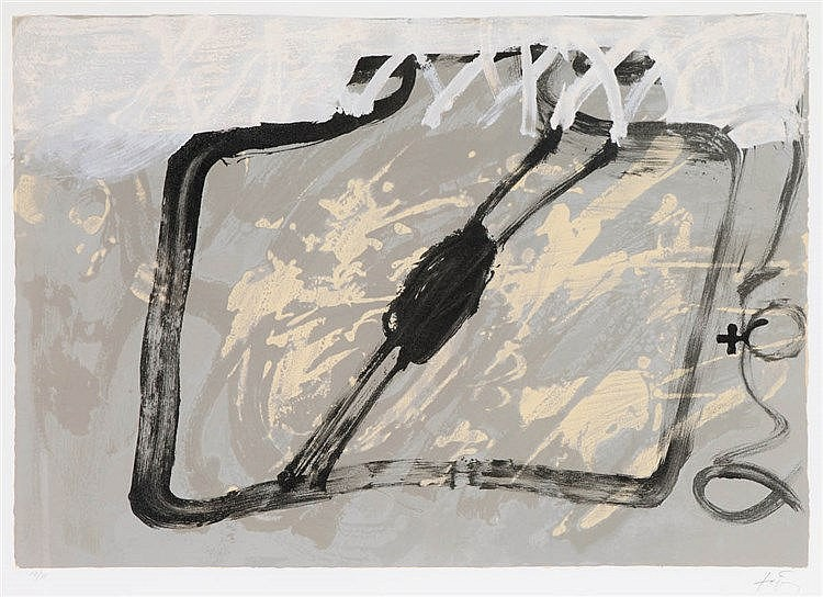 ANTONI TAPIES (1923-2012) Composition. Colour lithograph. Signed and n