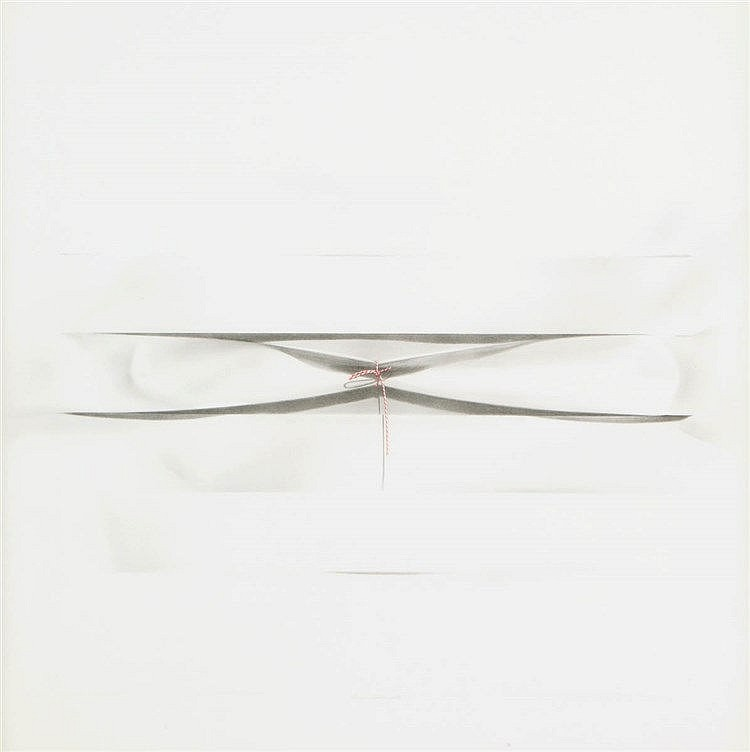 HUGO DUCHATEAU(1938) Untitled. Grey pencil and gouache. Signed and dat