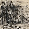 MARC MENDELSOHN (1915-2013) City view with railway. Charcoal. Signed a, Marc Mendelsohn, €100