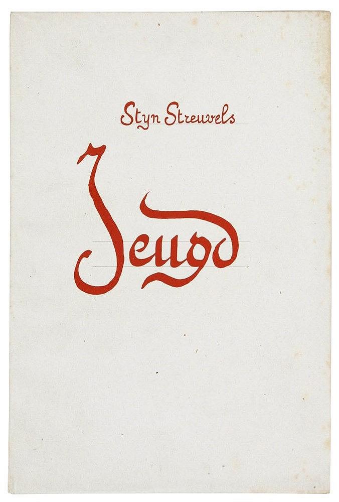 (Steuvels) Stijn Streuvels, Jeugd. S.l.n.d. In-8°. 38 gen.pp. Een van de 20
