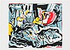 FRIEDA VAN DUN(1951) Composition. Colour lithograph. Signed, dated and, Frieda
