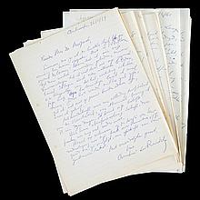 (De Ridder - De Muynck) André de Ridder, Correspondentie met Remy De Muynck