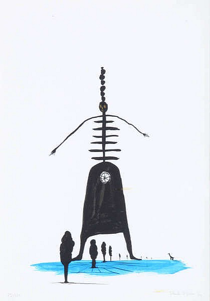 HENK VISCH(1950) Untitled. Screenprint. Signed, dated and numbered. Fr
