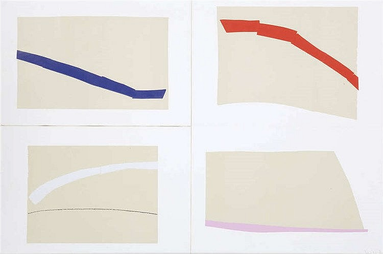 GUY MEES (1935-2003) Lost space. Set of four screenprints. One sheet s