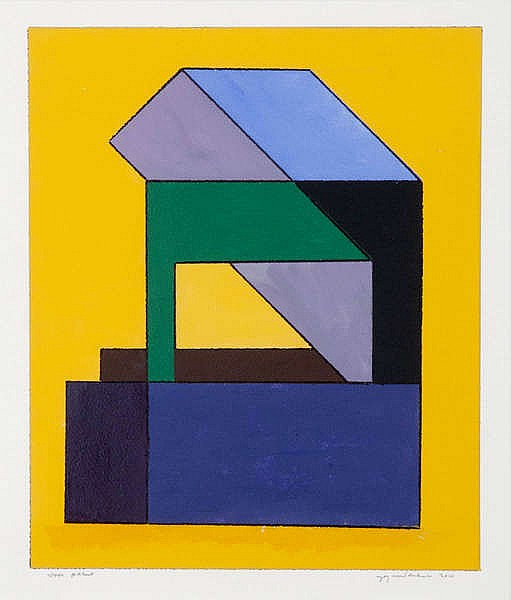 GUY VANDENBRANDEN(1926) Composition. Ink and gouache. Signed, dated an