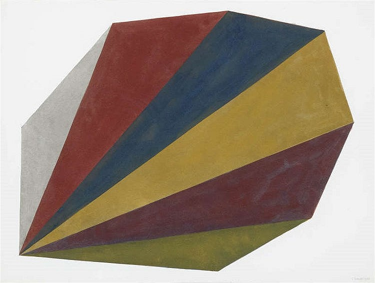 SOL LEWITT (1928-2007) Untitled. Watercolour, gouache and pencil. Sign