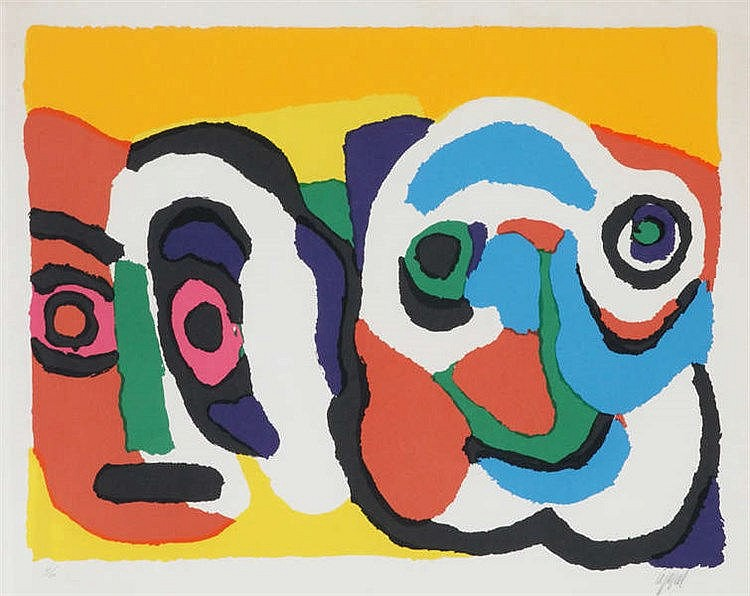 KAREL APPEL (1921-2006) Composition. Screenprint. Signed and numbered.