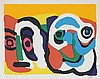 KAREL APPEL (1921-2006) Composition. Screenprint. Signed and numbered., Karel Appel, €400