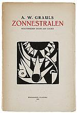 (Cockx) A.W. Grauls, Zonnestralen. Houtsneden door Jan Cockx. Antwerpen, Bo