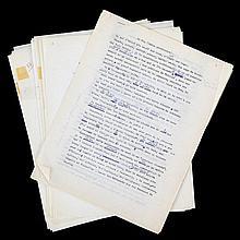 (Chagall) Marc Chagall, Lettres à André de Ridder. Tapuscrit orig. de toute