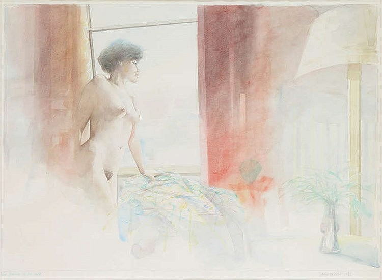 JAN VAN RIET(1948) Watercolour and pencil. Signed, dated and titled. F