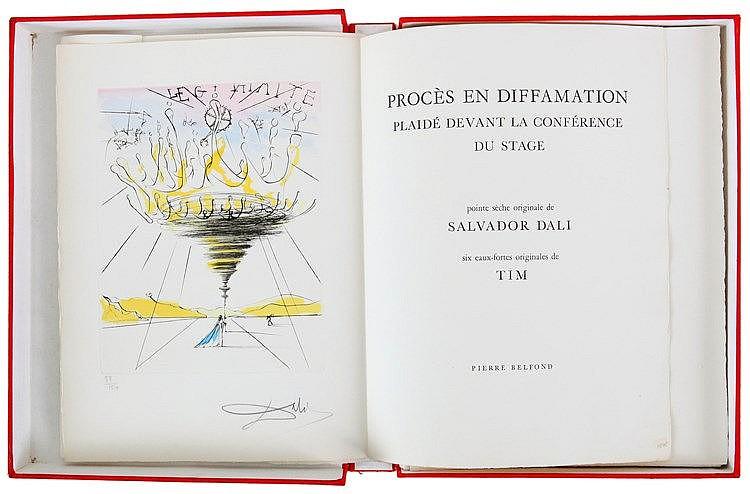 SALVADOR DALI (1904-1989) Procès en diffamation/plaidé devant la confé