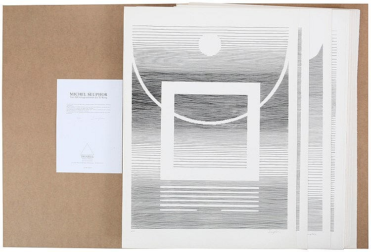 MICHEL SEUPHOR (1901-1999) Portfolio with 64 screenprints. All signed