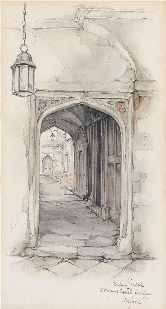 ANTON PIECK (1895-1986) Grey pencil and watercolour. Signed and titled