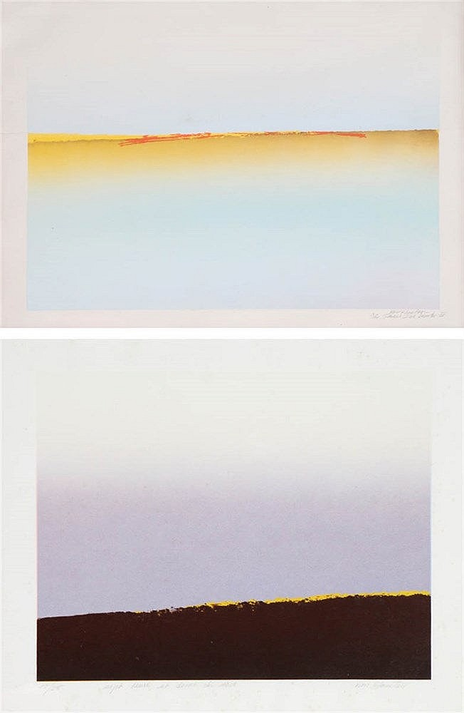 KATE VAN HOUTEN(1940) A set of two prints. Signed, numbered and titled
