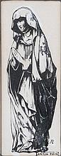 ANTON PIECK (1895-1986) The holy virgin. Chinese ink and gouache. Init