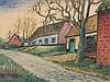 FELIX TIMMERMANS (1886-1947) Farm houses along the road. Black crayon,, Félix Timmermans, €400