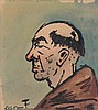FELIX TIMMERMANS (1886-1947) Head of a monk. Chinese ink and watercolo, Félix Timmermans, €140