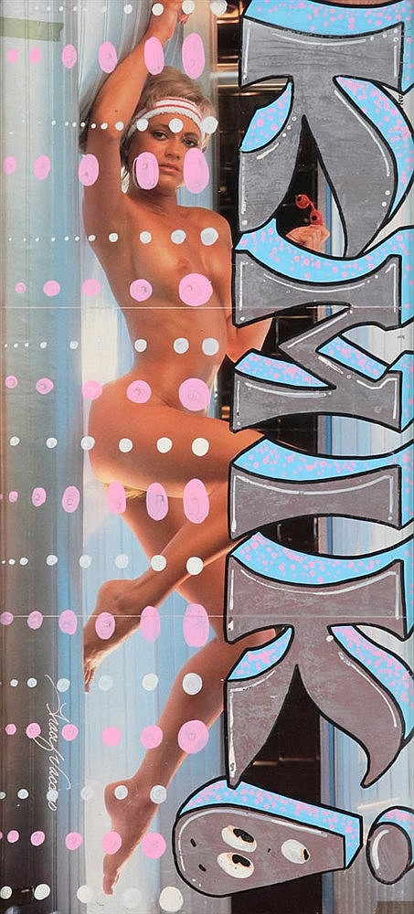QUIK(1958) Composition. Graffiti on sheets from erotic magazine. Frame