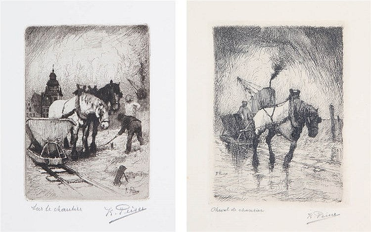 KURT PEISER (1887-1962) A set of two etchings. Both signed and titled.